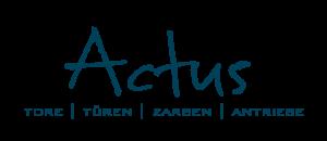 RZ Logo  Actus blau 300x130